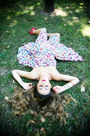 hot pink Ungaro dress