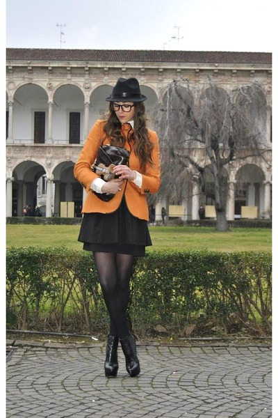 black asos boots - carrot orange Moschino jacket