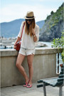 H-m-hat-proenza-shouler-bag-zara-shorts-zara-flats