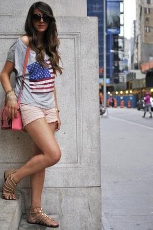 silver Forever21 blouse - light pink Zara pants