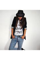loveis too shirt shirt - blue Topman jeans - black asos blazer