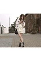 peach Prada jacket - eggshell Luisa Beccaria blouse