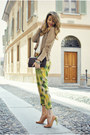 Ruby-red-ysl-bag-chartreuse-pinko-pants