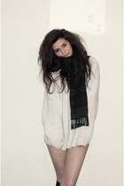 charity shop jumper - grans scarf - Topshop socks