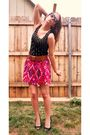 Black-forever-21-dress-red-stoosh-skirt-brown-forever-21-belt-black-delici