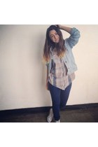 pull&bear jeans - sOliver jacket - shirt - Converse sneakers