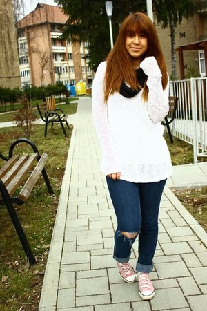 jeans - H&M sweater - Converse sneakers