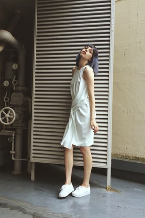 white H&M Trend shoes - white toga dress dress