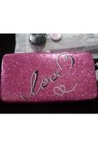 hot pink Kmart wallet