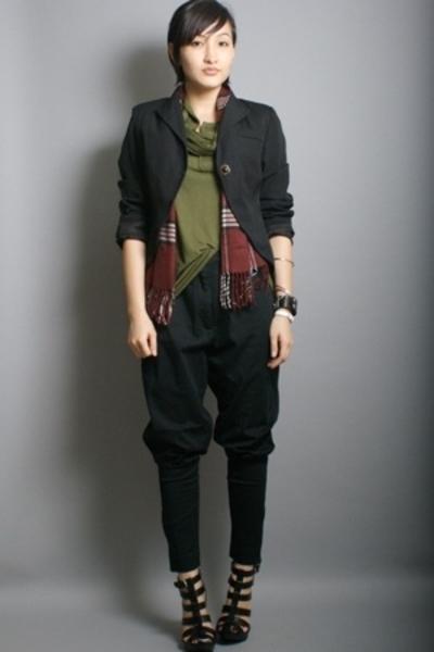 blazer - neneee top - London Fog scarf - neneee pants - shoes