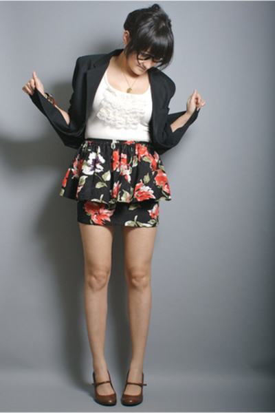 Claiborne blazer - neneee top - neneee skirt - Nine West shoes