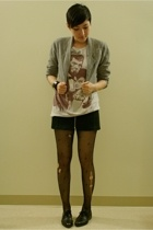 vintage jacket - Threadless shirt - Secondhand skirt - deadstock tights - bruno