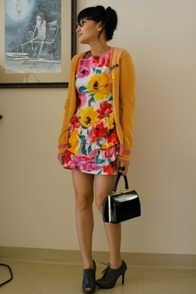 Le Tigre sweater - vintage reconstruction dress - vintage purse - shoes - imyour