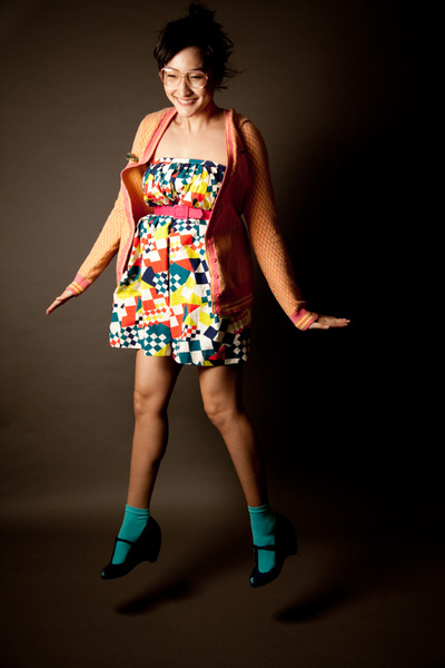 blue geometric Sally Scott skirt