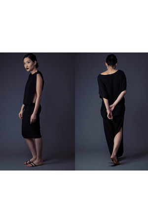 black topsy turvy neneee dress