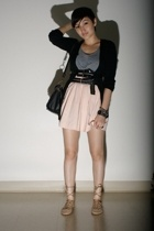 new york and co top - Secondhand sweater - vintage skirt - Capezio shoes - balen