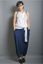 neneee top - yohji ys pants - bruno valenti shoes