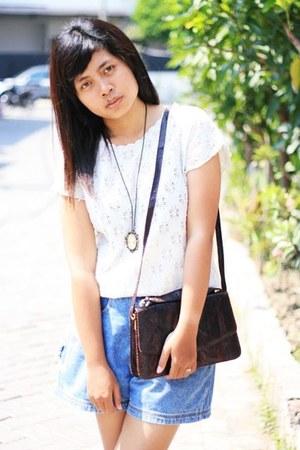 ivory crochet vintage blouse