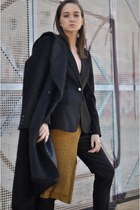 H&M shoes - H&M coat - Zara sweater - Gucci blazer - Zara pants