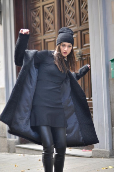 Zara-dress-h-m-coat-zara-pants-adidas-sneakers