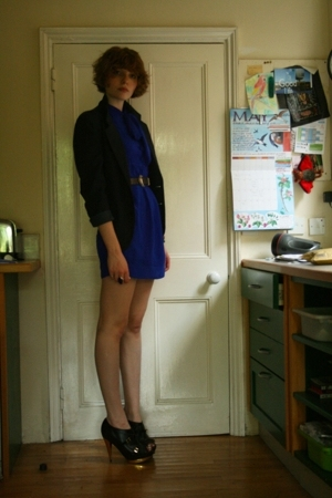 Topshop dress - vintage blazer - Faith shoes - Camden Market blazer