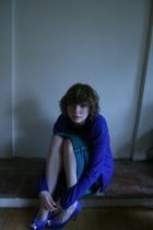 Gap sweater - Threadless t-shirt - skirt - Office shoes