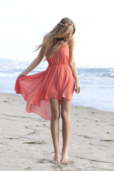 coral Love dress