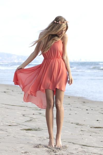 coral Love dress
