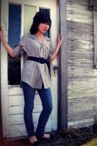 blouse - jeans - belt