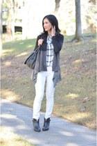 Ronen Chen cardigan - rag & bone boots - Gap jeans - madewell shirt