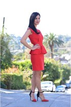 ruby red vintage dress - ruby red Zara heels