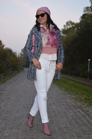 Express coat - Mara boots - Bershka jeans - Zara shirt - Guess sunglasses