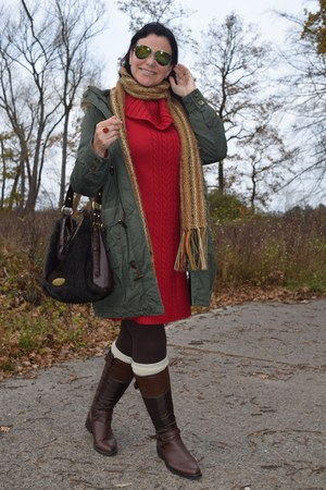 Graceland boots - H&M dress - Yessica Outwear coat - Claudia Canova bag