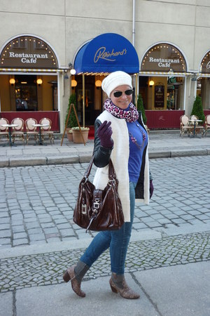 Sheinside coat - Zara jeans - Ray Ban sunglasses - Zara sweatshirt