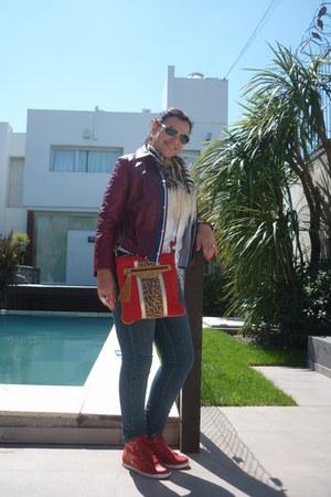 Zara jeans - Cueros Argentinos jacket - Cueros Argentinos bag