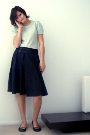 banana republic blouse - Zara skirt - Nordstrom shoes