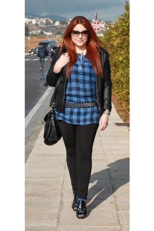 Promod shirt - Nine West shoes - H&M leggings - Bershka bag - Vogue sunglasses