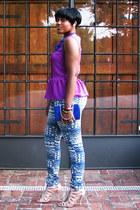 Forever 21 blouse - jeans - Nine West sandals