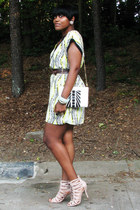 tribal Forever 21 dress - Cole Haan bag - light pink Nine West sandals