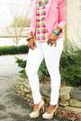 Multi-color-blouse-white-asos-jeans-bubble-gum-the-limited-blazer