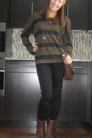 brown free people shirt - dark brown Jessica Simpson boots
