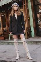 blazer vintage blazer - Missguided boots - beret Primark hat
