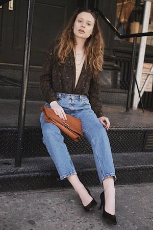 blue mom jeans vintage jeans