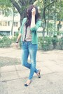 Zara-jeans-topshop-blouse-h-m-flats-accessorize-ring-zara-cardigan