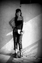 black - black accessories - black - purse -