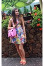 Floral-dress-bubble-gum-deichmann-bag-orange-sandals