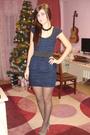 Blue-zara-dress-black-meli-melo-necklace-brown-accessorize-accessories-sil