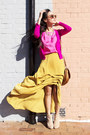 Beige-asos-boots-bronze-vintage-bag-yellow-cameo-skirt-bubble-gum-gary-pep