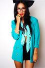 Blue-vintage-jacket-blue-vintage-top-black-vintage-shorts-black-diy-access
