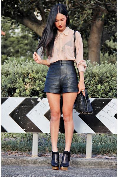 nude aa shirt - black Charlotte Olympia boots - black a wang bag